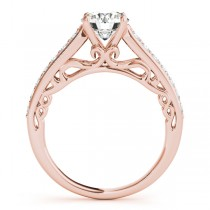 Vintage Style Cathedral Diamond Engagement Ring 14k Rose Gold 2.33ct