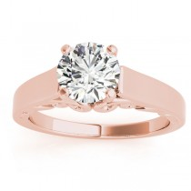 Bridal Antique Solitaire Engagement Ring 14k Rose Gold