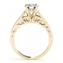 Bridal Antique Solitaire Engagement Ring 14k Yellow Gold