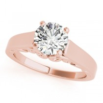 Bridal Antique Solitaire Bridal Set 14k Rose Gold