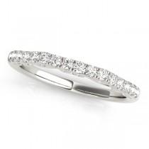 Diamond Single-Row Wedding Band 14k White Gold (0.20 ct)