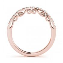 Diamond Single-Row Wedding Band 18k Rose Gold (0.20 ct)|escape
