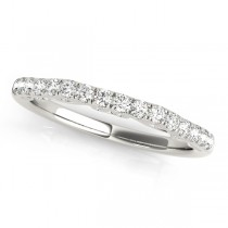 Diamond Single-Row Wedding Band 18k White Gold (0.20 ct)