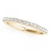 Diamond Single-Row Wedding Band 18k Yellow Gold (0.20 ct)