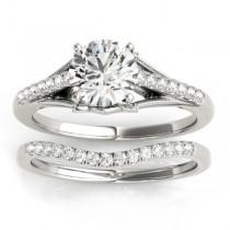 Diamond Bridal Set Setting 14k White Gold (0.20ct)