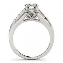 Diamond Accented Bridal Set Setting 14k White Gold (0.20ct)