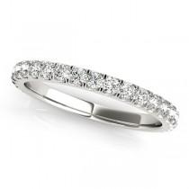 French Pave Halo Diamond Bridal Ring Set 18k White Gold (3.25ct)