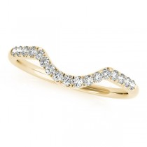 Diamond Accented Contour Wedding Band in 14k Yellow Gold (0.20ct)