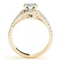 Wide Triple Band Diamond Engagement Ring 18k Yellow Gold (2.13ct)