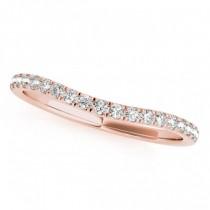 Triple Band Diamond Engagement Ring Bridal Set 14k Rose Gold (2.33ct)