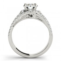 Triple Band Diamond Engagement Ring Bridal Set Platinum (2.33ct)