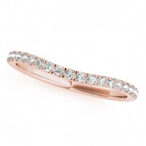 Diamond Curved Wedding Band in 18k Rose Gold (0.20ct)