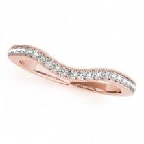Diamond Antique Style Halo Bridal Set 18k Rose Gold (0.52ct)