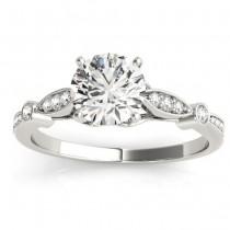 Marquise & Dot Diamond Vintage Bridal Set in 18k White Gold (0.29ct)