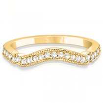 Marquise & Dot Aquamarine Vintage Bridal Set in 14k Yellow Gold (0.29ct)