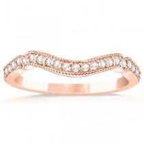 Marquise & Dot Pink Sapphire Vintage Bridal Set in 14k Rose Gold (0.29ct)