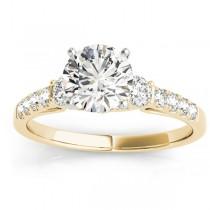 Diamond Three Stone Engagement Ring 14k Yellow Gold (0.43ct)
