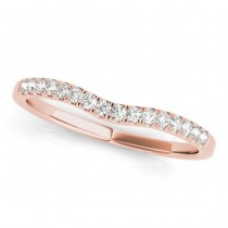Diamond Contoured Wedding Band 18k Rose Gold (0.12ct)