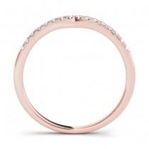 Diamond Contoured Wedding Band 18k Rose Gold (0.12ct)