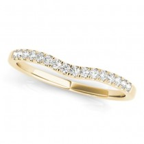 Diamond Contoured Wedding Band 18k Yellow Gold (0.12ct)