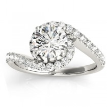 Diamond Twisted Swirl Engagement Ring Setting Platinum (0.36ct)