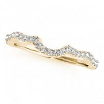 Semi Eternity Contour Diamond Wedding Ring in 18k Yellow Gold 0.20ct