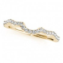 Semi Eternity Contour Diamond Wedding Ring in 14k Yellow Gold 0.20ct