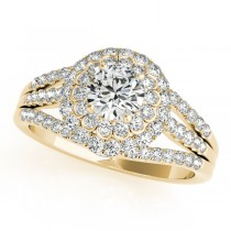 Fairy Tale Diamond Engagement Ring & Band Bridal Set 14k Y Gold 1.25ct