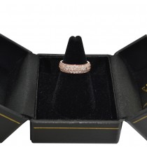 Three Row Diamond Wedding Band 18k Rose Gold (0.63ct)