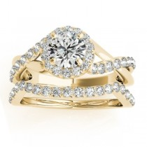 Diamond Engagement Ring Setting & Wedding Band 14k Yellow Gold 0.50ct