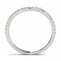 Diamond & Blue Sapphire Bypass Bridal Set 14k White Gold (0.74ct)