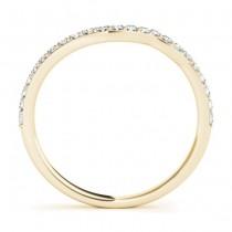 Diamond & Blue Sapphire Bypass Bridal Set 18k Yellow Gold (0.74ct)