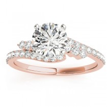 Diamond Bypass Engagement Ring Setting 18k Rose Gold (0.45ct)