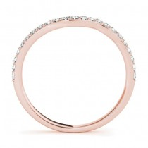 Diamond Accented Contoured Wedding Band 14k Rose Gold (0.29ct)