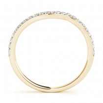 Diamond Accented Contoured Wedding Band 14k Yellow Gold (0.29ct)