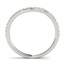 Diamond Accented Contoured Wedding Band Platinum (0.29ct)