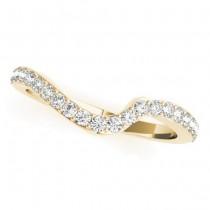 Diamond Swirl Contoured Wedding Band 18k Yellow Gold (0.29ct)