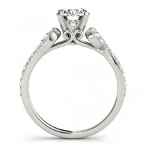 Diamond Single Row Curved Engagement Ring Platinum (0.39 ct)