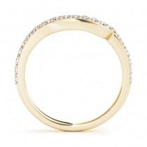 Diamond Single Row Bridal Set Setting 18k Yellow Gold (0.68 ct)
