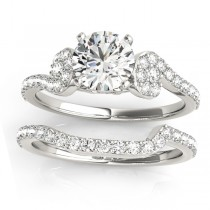 Diamond Single Row Bridal Set Setting Palladium (0.68 ct)