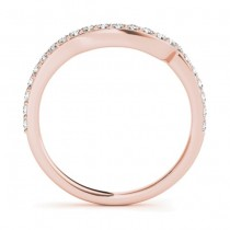 Diamond Contoured Wedding Band 14k Rose Gold (0.29 ct)