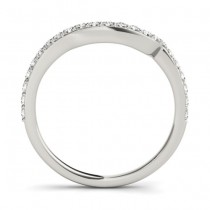 Diamond Contoured Wedding Band 14k White Gold (0.29 ct)