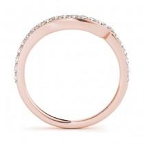 Diamond Contoured Wedding Band 18k Rose Gold (0.29 ct)