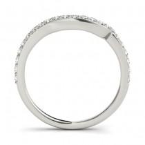 Diamond Contoured Wedding Band 18k White Gold (0.29 ct)
