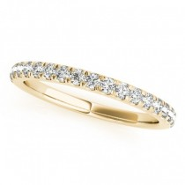 Diamond Curved Prong Wedding Band 18k Yellow Gold (0.24ct)