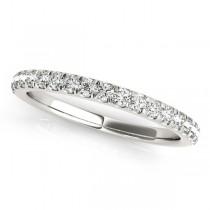 Diamond Curved Prong Wedding Band Palladium (0.24ct)