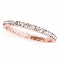 Semi Eternity Pave Diamond Wedding Band in 14k Rose Gold (0.20ct)