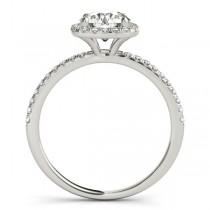Square Halo Lab Grown Diamond Bridal Setting Ring & Band Platinum (0.33ct)