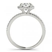 Square Halo Round Diamond Bridal Set Ring & Band 14k White Gold 1.88ct