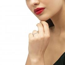 Diamond Accented Semi Eternity Wedding Band 18k Rose Gold (0.13ct)